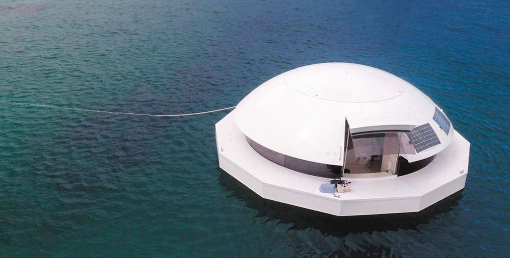 Anthenea, la casa flotante autosuficiente para vivir en el mar.