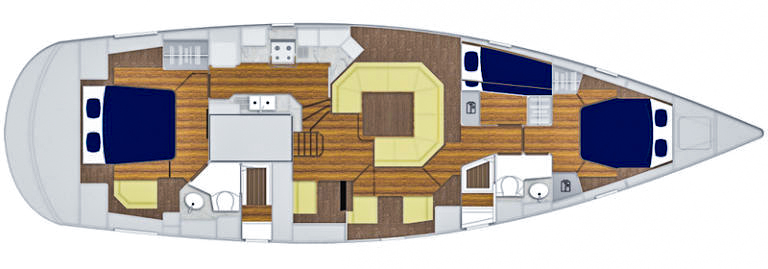Discovery 54 interior layout