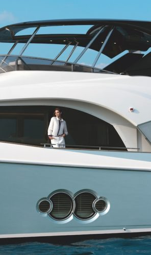 MCY 66 Monte Carlo Yachts side deck view