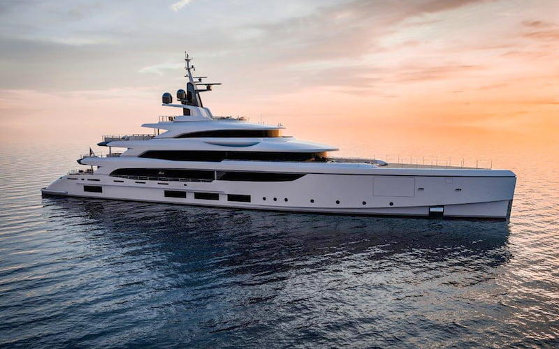 Benetti FB270 sunset
